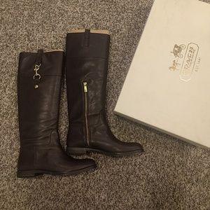 Coach Martta Soft Leather Boots NWB